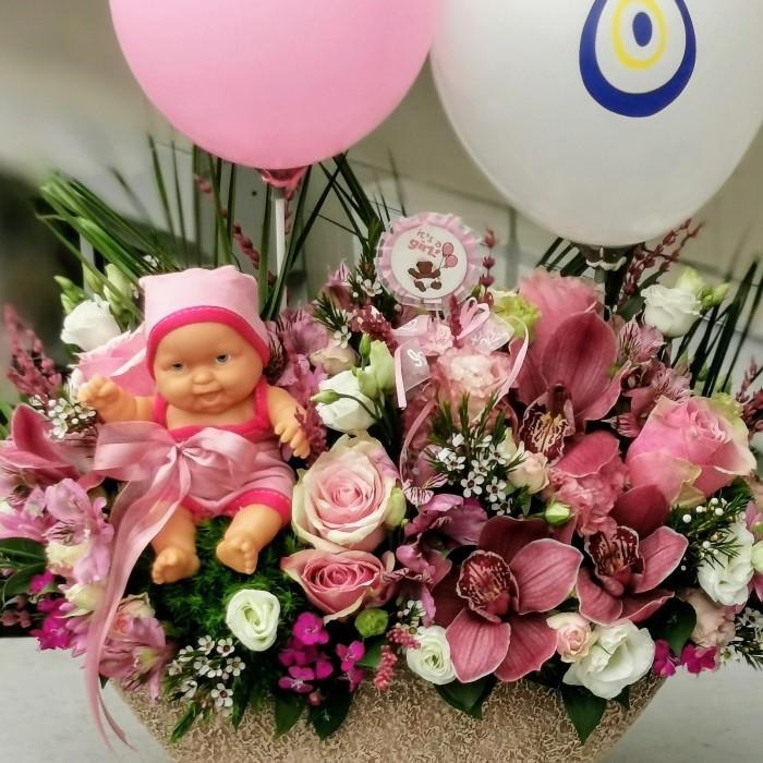 Çiçek Sepeti Kýz Bebek
