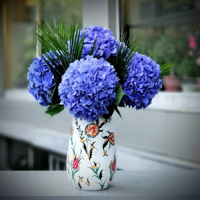 Minai Serisi Mavi Ortancalar