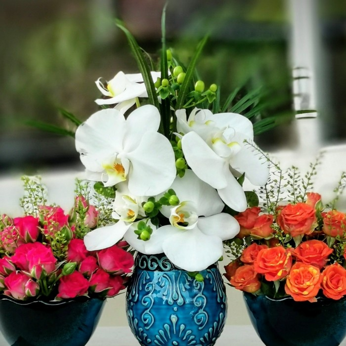 Minai Serisi - Orkide ve Mini Güller