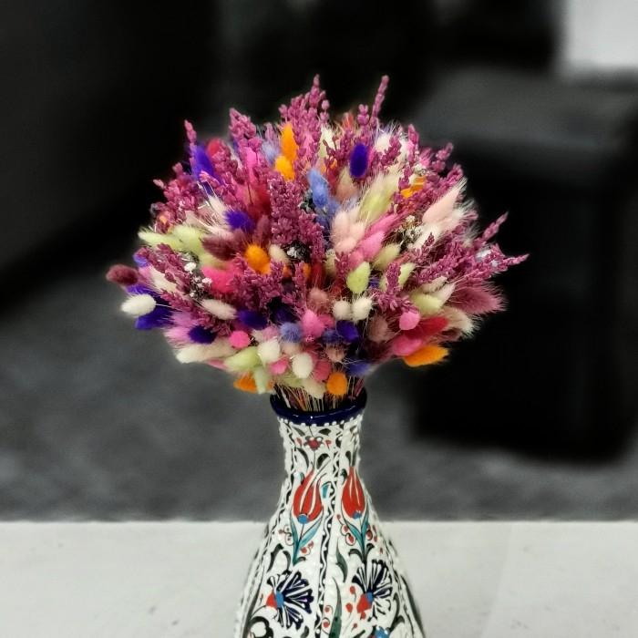 Samur Serisi Renkli Kuru Çiçek