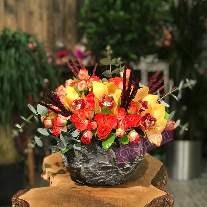 Kavacýk Çiçek Aranjmaný