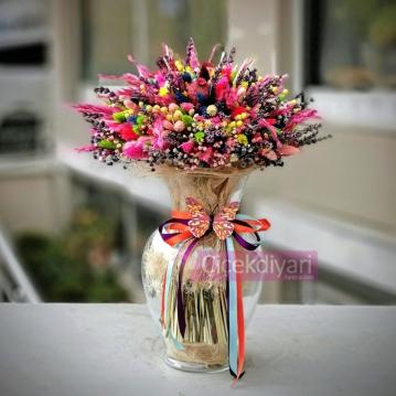 Deðirmenlik Kuru Çiçek Buketi